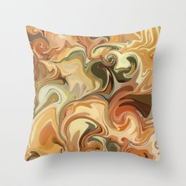 Marbled Swirl Desert Throw Pillow