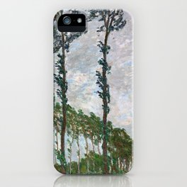 Wind Effect, Series of The Poplars - Digital Remastered Edition iPhone Case