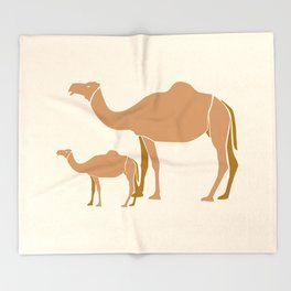 Camel Mother #draw #society6 #animal Throw Blanket