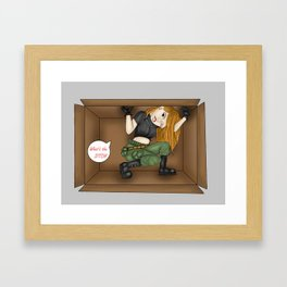 Trapped Kim Possible Framed Art Print