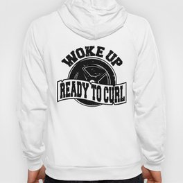 Woke Up Ready To Curl Weightlifter Fitness Shirt FitXGrind Hoody