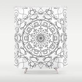 Mandala White Eye Shower Curtain