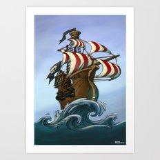 Fancy pirates! Art Print