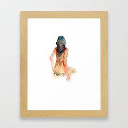 Woman Back Framed Art Print