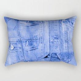 Denim Jacket Rectangular Pillow