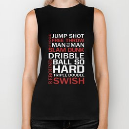 Basketball Descriptive Funny Sports Vintage T-shirt Biker Tank