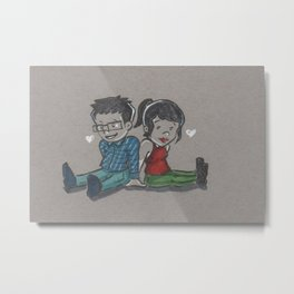 Sitting Metal Print