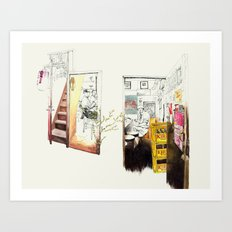 Tuesday Night Doors Art Print