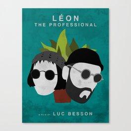 Léon: The Professional, 1994 (Minimalist Movie Poster) Canvas Print