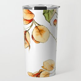 Orange Bougainvillea Illustration Travel Mug