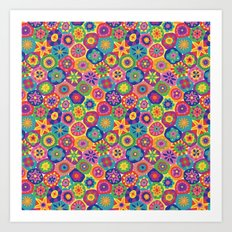 Millefiori-Crayon Colors Art Print