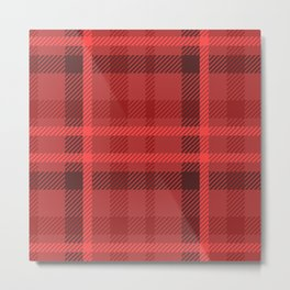 Red And Black Flannel Pattern Design Metal Print