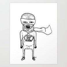 Superhero PK. Art Print