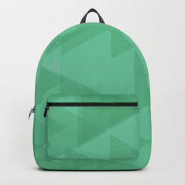 Light lime triangles in intersection and overlay. Backpack