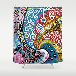 """Waves"" Shower Curtain"
