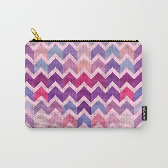 Watercolor Chevron Pattern II Carry-All Pouch
