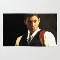 dean winchester Area & Throw Rugs featuring Fancy Dean Winchester by thefluidlines