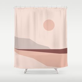 Abstract Landscape 02 Shower Curtain