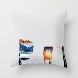Brushes Throw Pillow