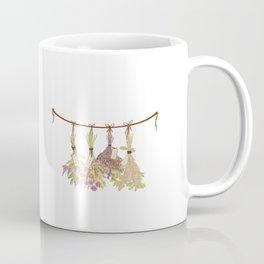 herbs in pastel colors . Coffee Mug
