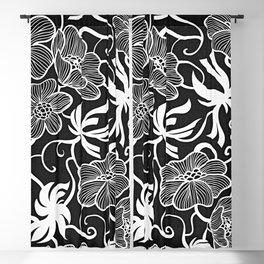 Paris 1928 - Floral Retro Vintage Blackout Curtain