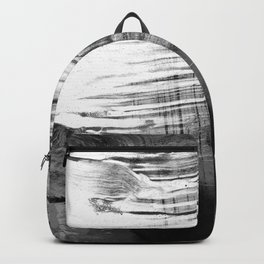 Spectral // black and white abstract ink painting Backpack