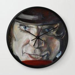 painting Alex Clock work orange  Wall Clock