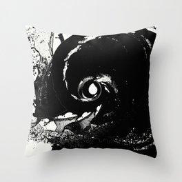 Whirlpool Of Black Throw Pillow