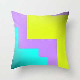 Purple yellow and blue abstract art Throw Pillow