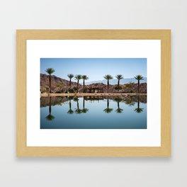 Palms Reflection Framed Art Print