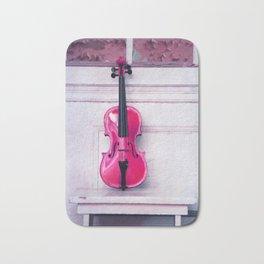 pink violin Bath Mat