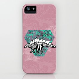 Stegosaur Fossil iPhone Case