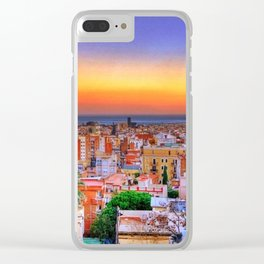 Barcelona Sunset Clear iPhone Case