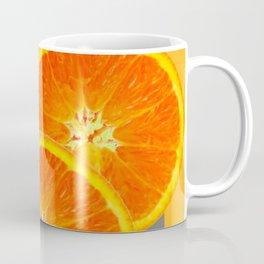 CONTEMPORARY SUCCULENT  ORANGE SLICES GREY ART Coffee Mug