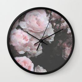 Mosaic Rose Wall Clock