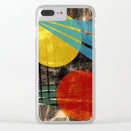 - abstract sunset - Clear iPhone Case