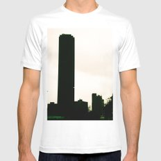 BUILDING IN BOGOTÁ Mens Fitted Tee White SMALL