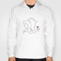 beauty and the beast Hoodies featuring Beauty And Beast BW by alexa