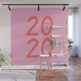 2020 Unhappy Emoji Year Wall Mural