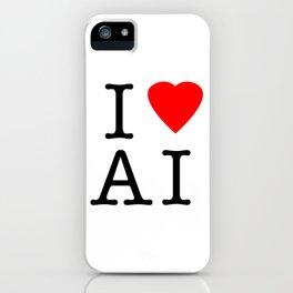I love Artificial Intelligence NY Parody iPhone Case