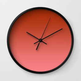 Red to Pastel Red Horizontal Linear Gradient Wall Clock