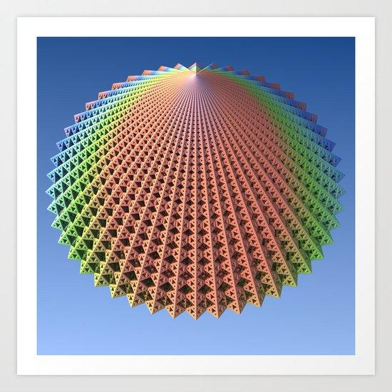 Floating Cone Art Print