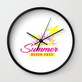 Summer Never Ends yp Wall Clock