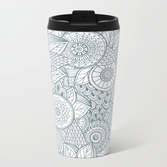 Pattern flower Metal Travel Mug