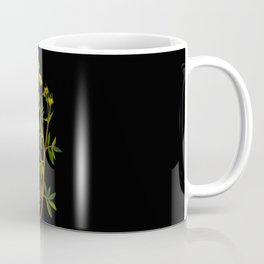 Potentilla Fruticosa Mary Delany Vintage Floral Collage Botanical Flower Coffee Mug