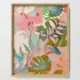 tropical home jungle abstract Serving Tray