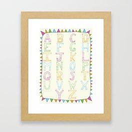Luchador Alphabet Framed Art Print