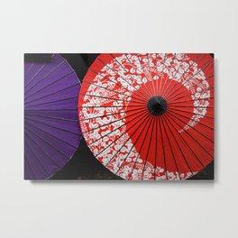 Japanese Umbrellas Metal Print