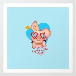 I am a happy Piggie Art Print