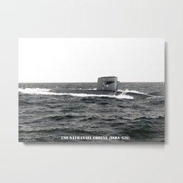 USS NATHANAEL GREENE (SSBN-636) Metal Print